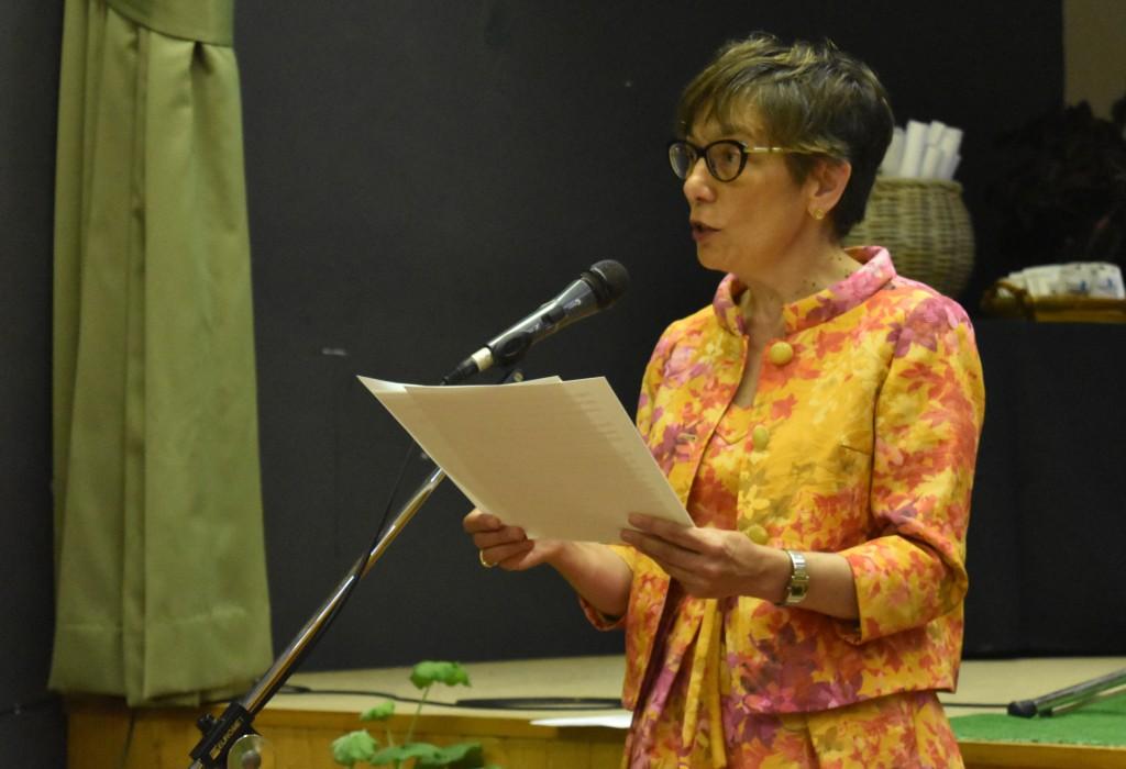 A profesora de inglés Warinca Arce Gonzalez
